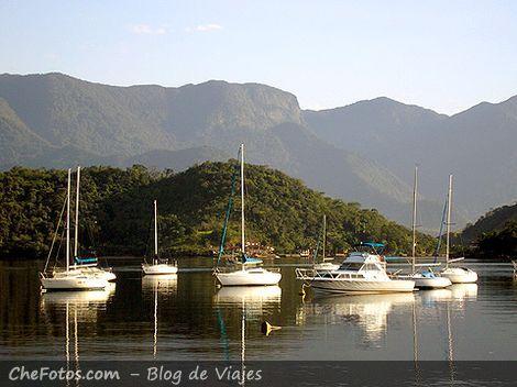 Veleros en el Yacht Club de Angra dos Reis