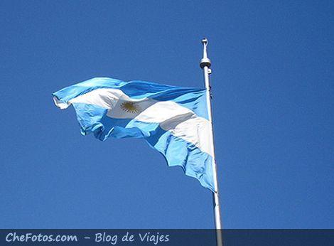Bandera de la República Argentina en Rosario