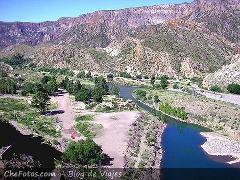 Vista panorámica del Río Atuel