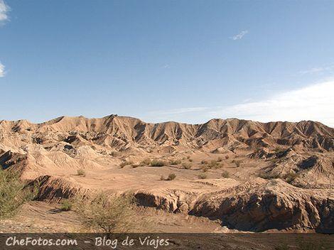 Foto del paisaje en quebrada de Ullum