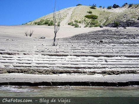 Playas y dunas en el lago de San Rafael