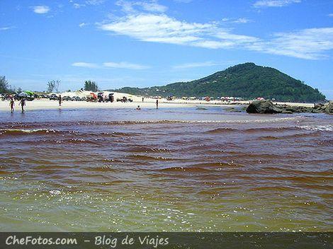 Praia da Barra - El río y el mar