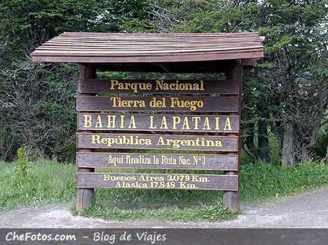 Fin de la ruta Nacional 3, Ushuaia