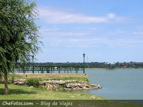 Laguna del parque en La Pampa