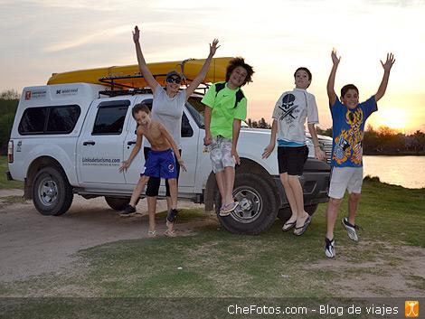 Kayakismo en el lago de Villa María 6