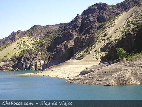 Médanos en el lago de Valle Grande