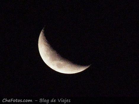 Foto de la luna en El Palmar de Colón