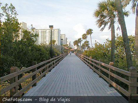 La pasarela de South Beach en Miami
