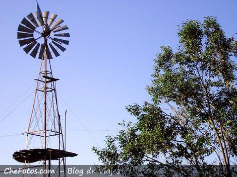 Foto de un molino típico de campo Argentino
