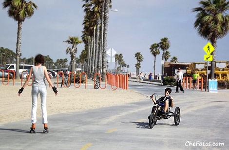 Rollers playa de Santa Mónica
