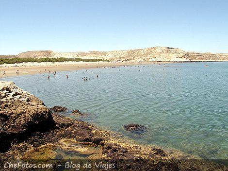 Playa principal de Puerto Pirámides