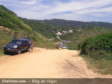 Estacionamiento en Praia do Rosa