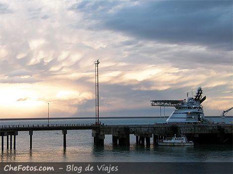 Muelle y puesto de la PNA Punta Quilla