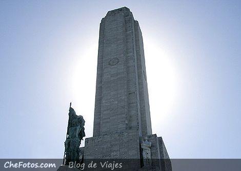 El sol en la Torre del Monumento