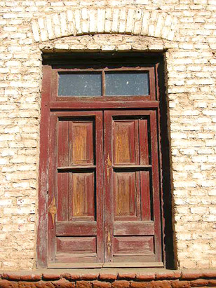 Foto de una vieja ventana cerrada