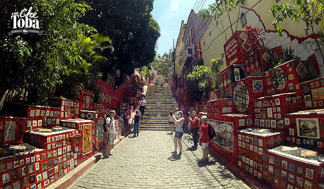 Dirección Escalera Colorida de Selaron Rio de Janeiro