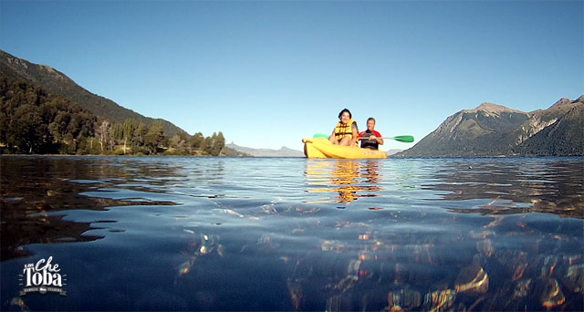 Kayak lago huechulafquen