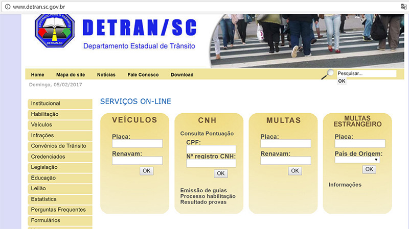 Multas por infracciones de tránsito en el sur de Brasil