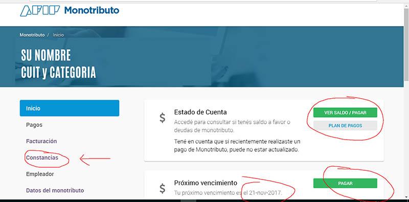 Credencial de pago Monotributo - CUR 4