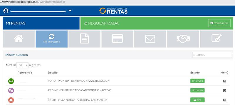 Valuación fiscal de propiedades según Rentas Córdoba