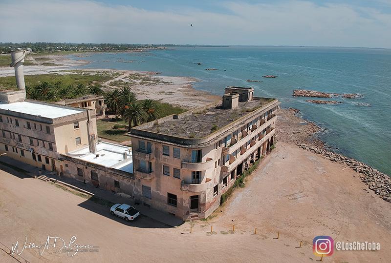 Mar de Ansenuza, Hotel Viena desde el Aire