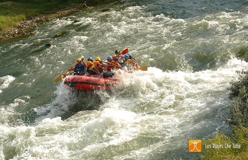 Rafting en familia en el Atuel