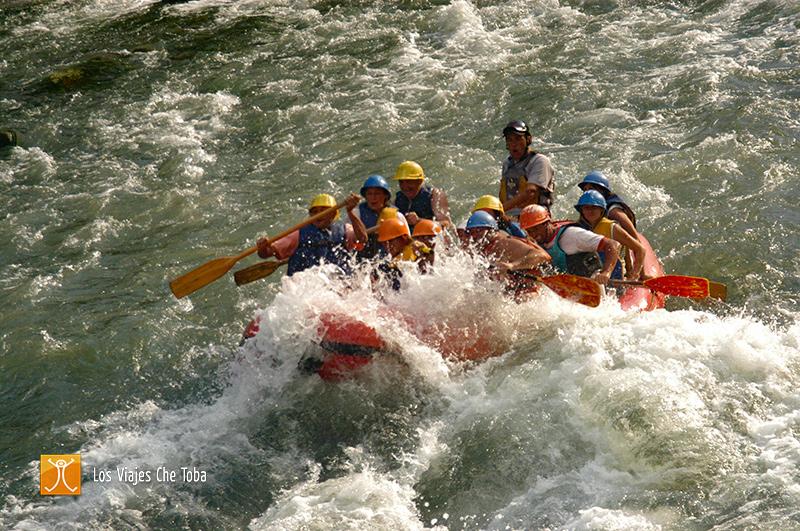 Rafting en el río atuel