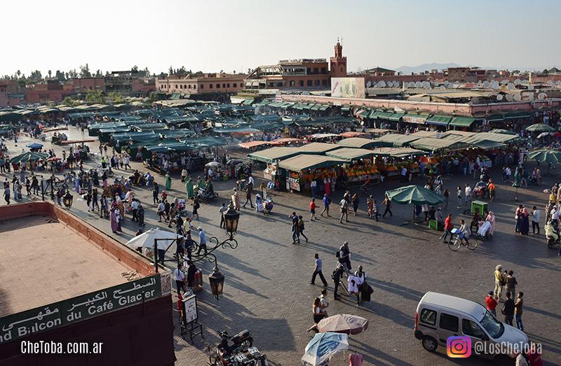 El balcón del Café Glacier Marrakech