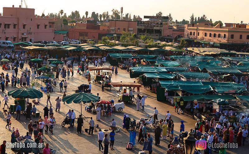 fotografía de viajes Plaza de Yamaa el Fna