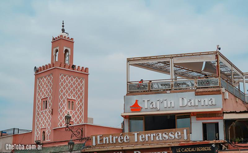 Café y restaurante con mirador plaza de Marrakech
