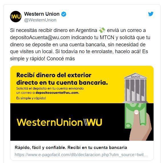 Twitter Western Union