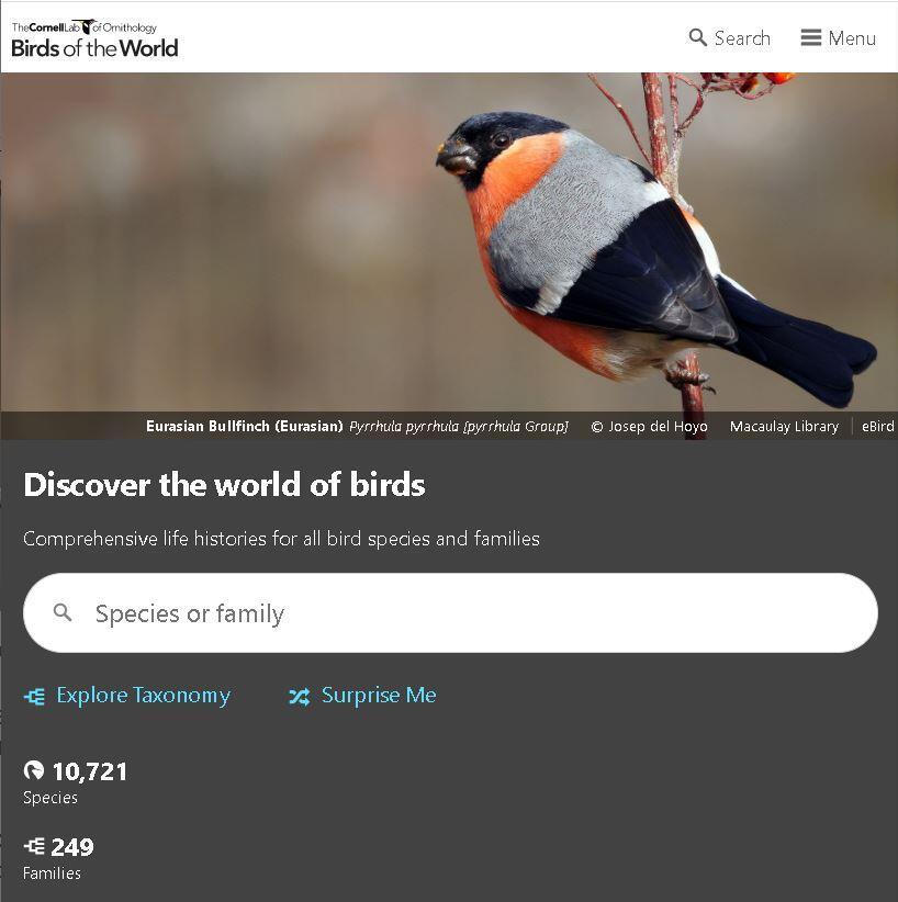 La gran biblioteca mundial de las aves, Birds Of The World