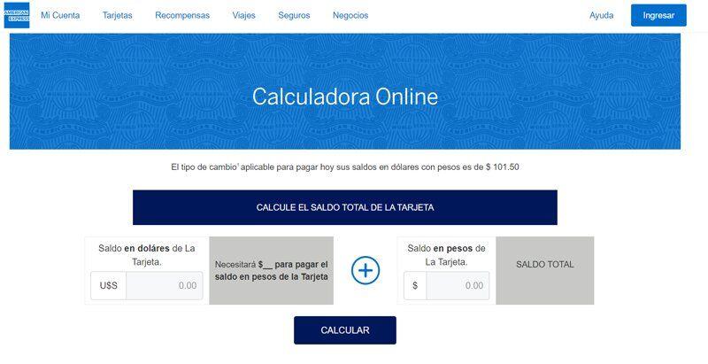Cómo calcular y pagar el saldo en dólares de American Express Argentina