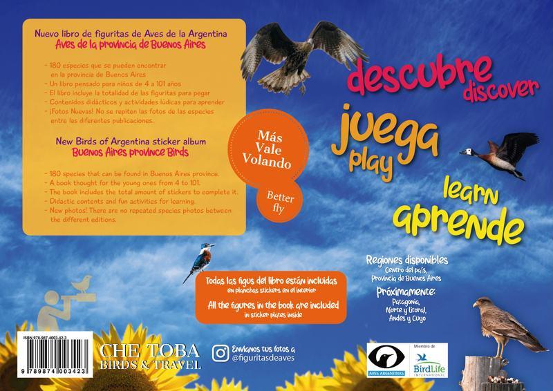 Libro de Figuritas de Aves de la Provincia de Buenos Aires