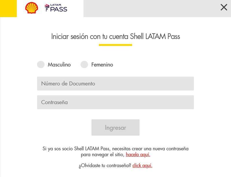 Promo Tarjeta Shell Latam Pass