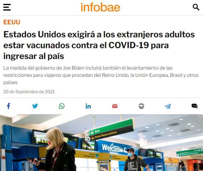 Viajar a los EEUU