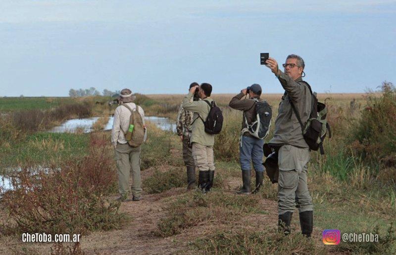 Botas de gomas, salidas de observación de ave
