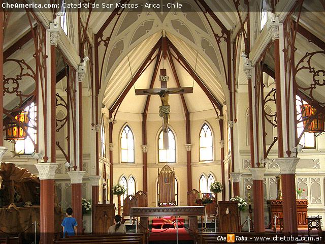 Interior Catedral Eiffel Arica - Chile