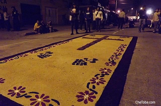 Alfombra procesion Guatemala