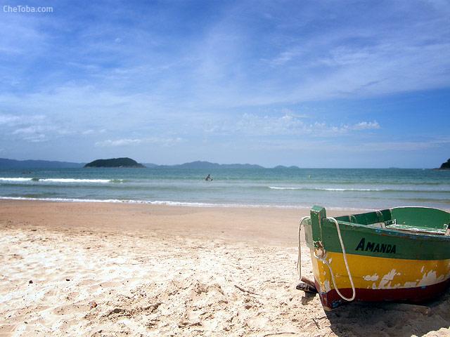 Canoa pesca sur de Brasil