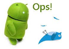 Error de Twitter en Android