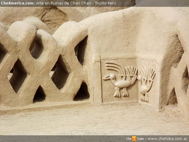 Arte en muros Ruinas de Chan Chan