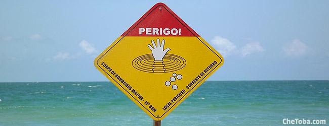 Cartel Bomberos Playa Brasil