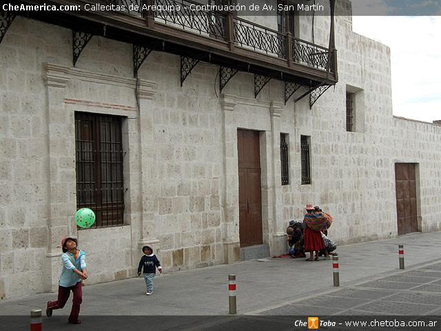 Calles de la ciudad blanca de Arequipa