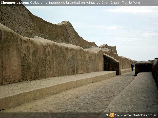 Calles internas parque arqueológico Chan Chan