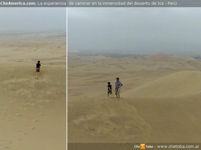 Walking on Desert Huacachina