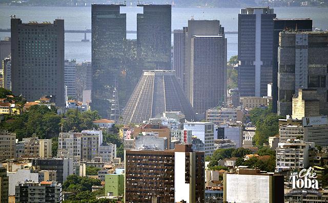 Vista aire de la Catedral de Río de Janeiro