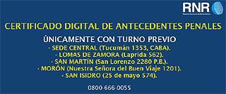 Certificado Antecedentes Penales Argentina