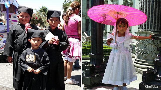 Chicos trajes típicos Semana Santa Guatemala