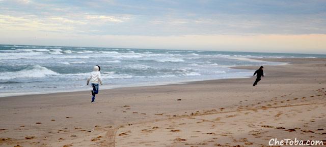 Corriendo en la Playa de Mar del Plata
